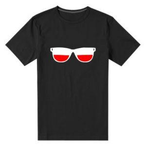 Men's premium t-shirt Flag of Poland