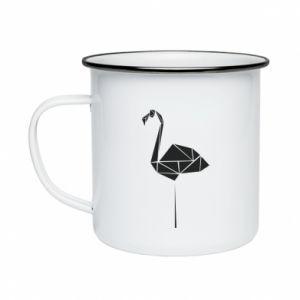 Enameled mug Flamingo