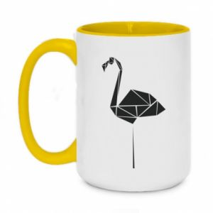 Two-toned mug 450ml Flamingo