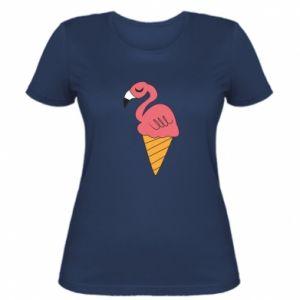Damska koszulka Flamingo ice cream