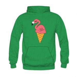 Bluza z kapturem dziecięca Flamingo ice cream