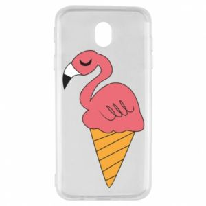 Etui na Samsung J7 2017 Flamingo ice cream