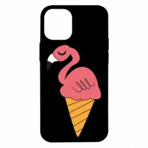 Etui na iPhone 12 Mini Flamingo ice cream