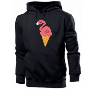 Męska bluza z kapturem Flamingo ice cream