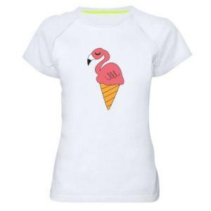 Damska koszulka sportowa Flamingo ice cream