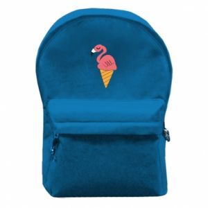 Backpack with front pocket Flamingo ice cream - PrintSalon