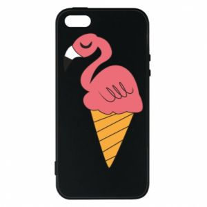 Etui na iPhone 5/5S/SE Flamingo ice cream