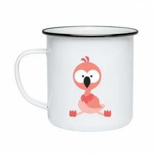 Enameled mug Flamingo