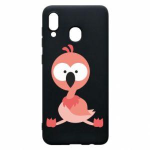 Samsung A20 Case Flamingo