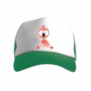 Kid's Trucker Hat Flamingo