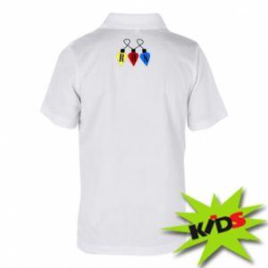 Dziecięca koszulka polo Flashlights RUN - PrintSalon