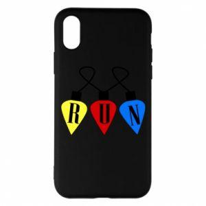 Phone case for iPhone X/Xs Flashlights RUN