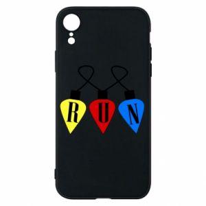 Phone case for iPhone XR Flashlights RUN