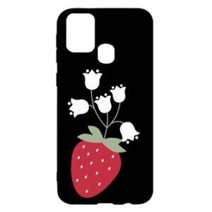 Etui na Samsung M31 Flowering strawberries