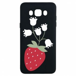 Etui na Samsung J7 2016 Flowering strawberries