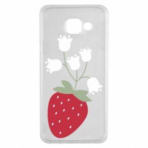 Etui na Samsung A3 2016 Flowering strawberries