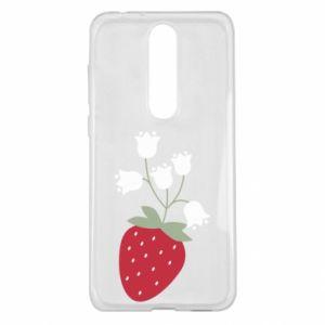 Etui na Nokia 5.1 Plus Flowering strawberries