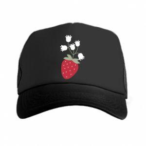 Czapka trucker Flowering strawberries