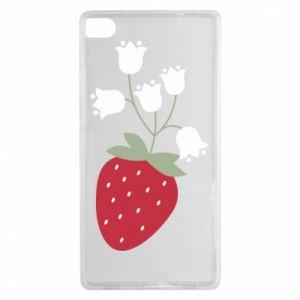 Etui na Huawei P8 Flowering strawberries