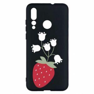 Etui na Huawei Nova 4 Flowering strawberries