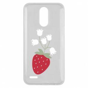 Etui na Lg K10 2017 Flowering strawberries
