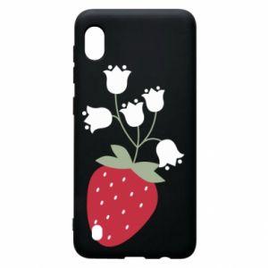 Etui na Samsung A10 Flowering strawberries