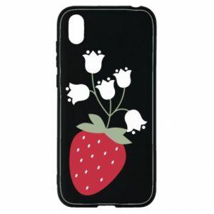 Etui na Huawei Y5 2019 Flowering strawberries