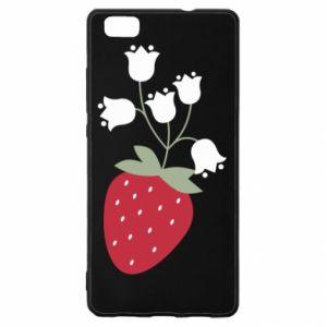 Etui na Huawei P 8 Lite Flowering strawberries