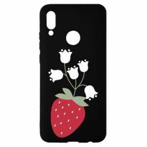 Etui na Huawei P Smart 2019 Flowering strawberries