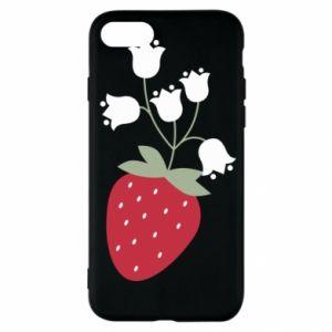 Etui na iPhone SE 2020 Flowering strawberries
