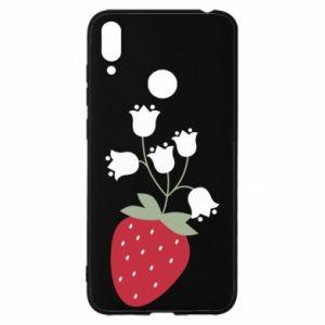 Etui na Huawei Y7 2019 Flowering strawberries