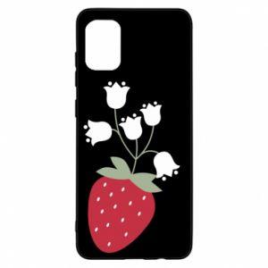 Etui na Samsung A31 Flowering strawberries