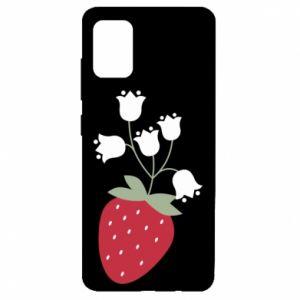 Etui na Samsung A51 Flowering strawberries