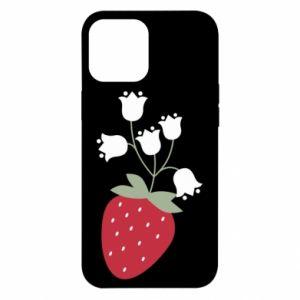 Etui na iPhone 12 Pro Max Flowering strawberries