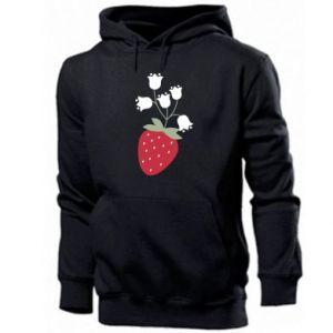 Men's hoodie Flowering strawberries