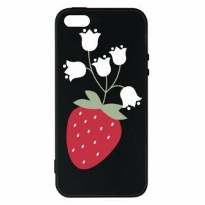 Etui na iPhone 5/5S/SE Flowering strawberries