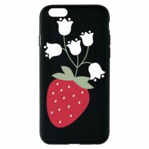 Etui na iPhone 6/6S Flowering strawberries
