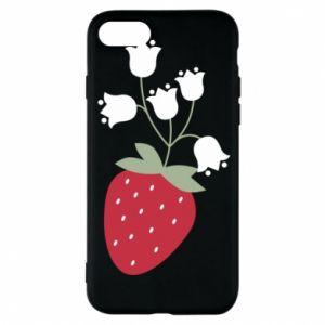 Etui na iPhone 8 Flowering strawberries