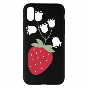 Etui na iPhone X/Xs Flowering strawberries