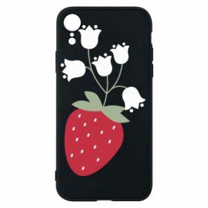 Etui na iPhone XR Flowering strawberries