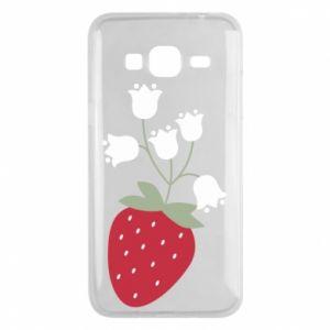 Etui na Samsung J3 2016 Flowering strawberries