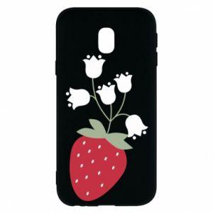 Etui na Samsung J3 2017 Flowering strawberries