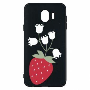 Etui na Samsung J4 Flowering strawberries