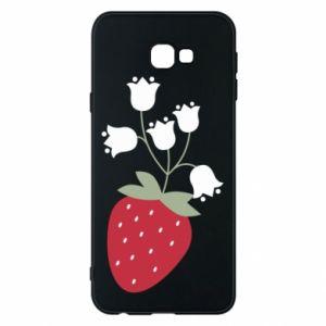 Etui na Samsung J4 Plus 2018 Flowering strawberries