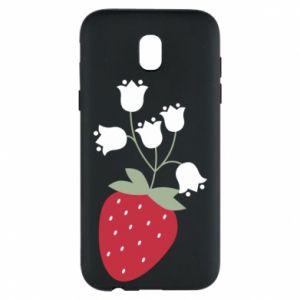 Etui na Samsung J5 2017 Flowering strawberries