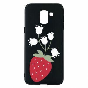 Etui na Samsung J6 Flowering strawberries