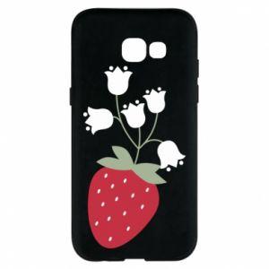Etui na Samsung A5 2017 Flowering strawberries