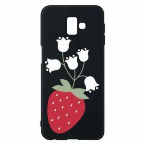 Etui na Samsung J6 Plus 2018 Flowering strawberries