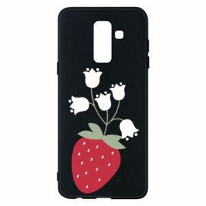 Etui na Samsung A6+ 2018 Flowering strawberries
