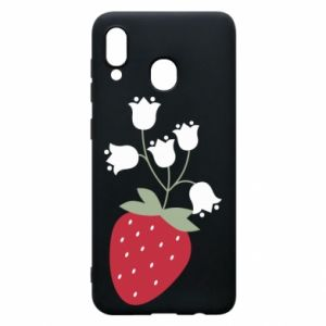 Etui na Samsung A20 Flowering strawberries